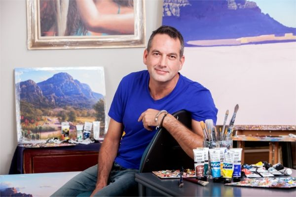 South African artist Andrew Cooper
